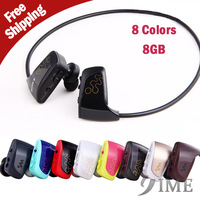 8GB W262 Fashion sport mp3 player,high High quality stereo,new style headset mp3 player 8G with retail package,Free Shipping