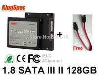 """Kingspec 1.8"""" inch SATA II SATA III 3 HD SSD 128GB HDD Solid State Disk Drive , Laptops Desktops Internal Hard drives"""