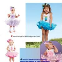 LS004 summer baby princess dress fashion tutu girl dress children ball gown kids magic wholesale retail Little Sun