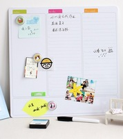 Free Shipping Mini Dry Erase Board White Board Whiteboard Magnet Marker calendar writing Fashion Weekly to do list Marker