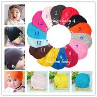 In stock 2013 New autumn girls boys Baby hat Children Set head cap Toddler infant kid cotton caps 3 pcs/lot!