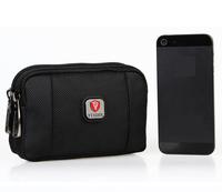 Small Black Canvas Mens Travel Bags Waist Bag Fanny Pack Belt Bag Waist Packs Belt Loops Tactical Phone Pouch Hip Purses Wallet