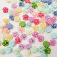 10mm 9Colors Resin Flower Cabochon for Jewelry Decoration Wholesale 200pcs/lot