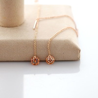 wholesale elegant delicate Austria crystal 18 k rose gold plated high-end fashionable zircon earring jewelry
