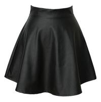 2014 Summer autumn Korean fashion tutu skirts, high waist pleated skirt, leather punk  PU bust skirts ,the PU women skirt