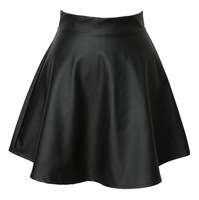 2014 Summer spring Korean fashion tutu skirts, high waist pleated skirt, leather punk  PU bust skirts ,the PU women skirt