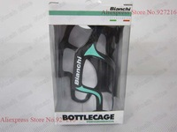 1 piece black-green Bianchi cage mtb/road bike full carbon fibre water bottle cages/holders/ complete carbon bicycle bike parts