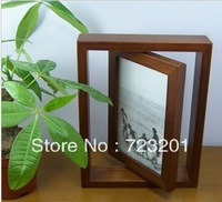 Free shipping double-sided frame of classical european-style Chinese catalpa wood real wood phase rotating frame
