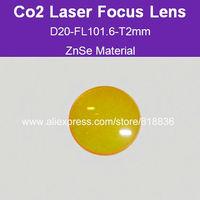 Free Shipping USA ZnSe Material Co2 laser focus lens Dia20-FL101.6mm