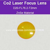 Free Shipping USA ZnSe Material Co2 laser focus lens Dia20-FL76.2mm