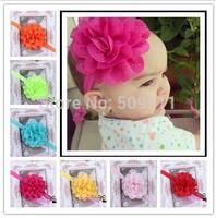 Baby Headband Infant girls Flower Headbands Chiffon flower Newborn toddler chic roses headband 20pcs HB134