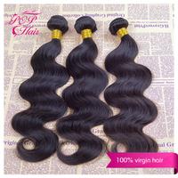 Ali POP Peruvian hair weaves 7A Unprocessed Peruvian virgin hair extensions Peruvian body wave 3pcs/lot 100% Natural black hair