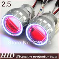 All-metal!35w 2.5'' inch  HID Bi-xenon Projector Lens CCFL Angel Eye  H1 H4 H7 HB3 HB4 9004 9007+2PCS AC Ballast  2GE