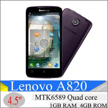 Lenovo A820 phone MTK6589 quad-core CPU 4.5 inch IPS capacitive screen 960x540 resolution supports multi-language menu