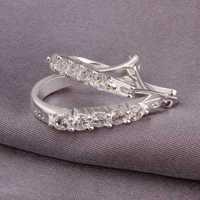Free Shipping Wholesale 925 Sterling Silver Earring,925 Silver Fashion Jewelry,Cute Zircon Earrings SMTE312