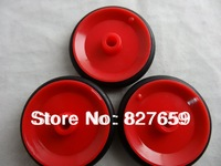 Free shipping 30 pcs/lot Red Combination  Rubber Wheels RC Remote Control Toys Parts Can Split