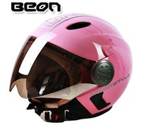 2015  New BEON motorcycle helmet   half helmet pink ladies free shipping