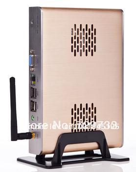Mini  Wireless Desktop PC with N270 CPU 8SSD Storage, High-Grade Thin Client Mini Computer Fanless Mini PC full Metal Case