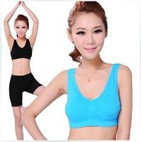 Free shipping women wireless yoga bra underwear set sports vest underwear HB201333
