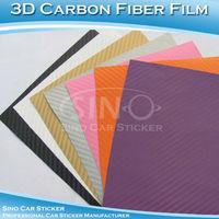 SINO CAR STICKER 1.52x15M 5FTx49FT Free Shipping A1000 Air Bubble Free 3D Carbon Fiber Decorative Vinyl Sticker 1.52x15M