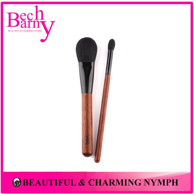 Hot Sale 2 PCS Professional Makeup Brushes & Tools Goat Hair Makeup Brush Set Woman Powder and Eyeshadow Brush Kit(China (Mainland))