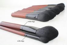 Hot Sale 2 PCS Professional Makeup Brushes Tools Goat Hair Makeup Brush Set Woman Powder and