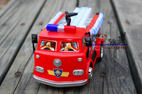 Free shipping Fireman sam toy lifeboat fire truck toy car 1:32 child models car model toy + one Sheet of sam sticker is for free