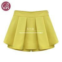Free shipping BAIYIMEI Brand New 2014 Summer Hot Short Pants Women's Shorts Beach Shorts Chiffon Culottes  Divided Skirt S-XXL