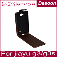 Jiayu G3 Leather Case, Leather protective cover case for Jiayu G3 G3s Phone, in Stock Freeshipping with jiayu logi! /vicky