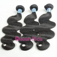 QNice Hair Peruvian Hair Extension 3pcs Or 4pcs lot Unprocessed Peruvian Virgin Hair Body Wave Human Hair Weave