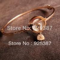 2014 Fashion jewelry 14k rose gold Birthday DORAEMON Bracelet adjustable bracelet for women Free shipping