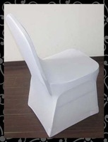 Free shipping high quality standard chair cover -lycra  chair cover with arc ( white)
