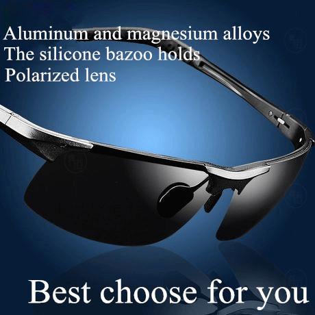 Male male sunglasses polarized sunglasses Men sunglasses sports aluminum magnesium sun glasses(China (Mainland))