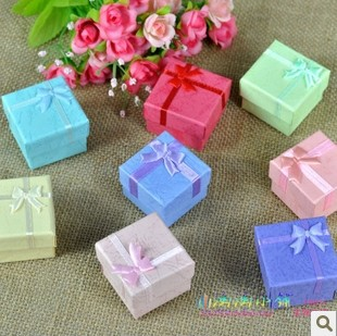 4cm*4cm *3cm  Fashion jewelry earrings rings box  jewelry packaging gift box (24pcs/lot)