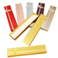 (12pcs/1lot) Wholesale 4cm*21cm*2cm silver ribbon bow necklace bracelet box jewelry box gift box free shipping