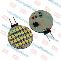 G4 24 LEDSMD1210 Round,12v g4 car bulb,g4 warm white light,g4 white led