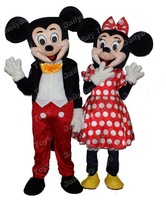 New Adult Mickey and Minnie Mouse Mascot Costumes Fancy Dress Suit  EVA Material  EMS Shipping Wholesale for 1 Set