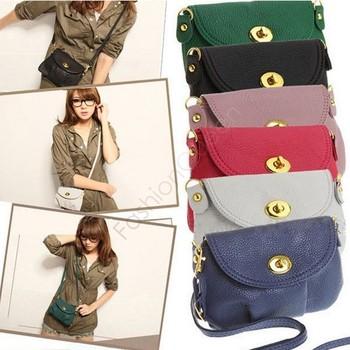 Hot selling! purses and handbags designer cross body women handbags fashion wallet with long strap 6 color 24