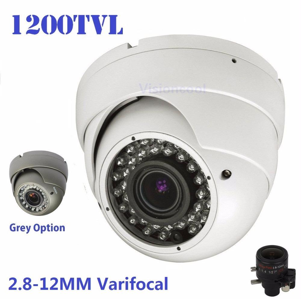 New!700TVL Effio Sony 1200TVL CCTV Varifocal lens Outdoor Dome camera 2.8-12mm lens IR Camera,+ Free shipment(China (Mainland))