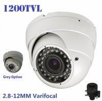 New!700TVL Sony 1200TVL CCTV Varifocal lens Outdoor Dome camera 2.8-12mm lens IR Camera,+ Free shipment
