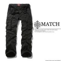 Matchstick men's cargo pants multi-pockets baggy pants plus size Gray Black Pants 38 40 42 44 #3357