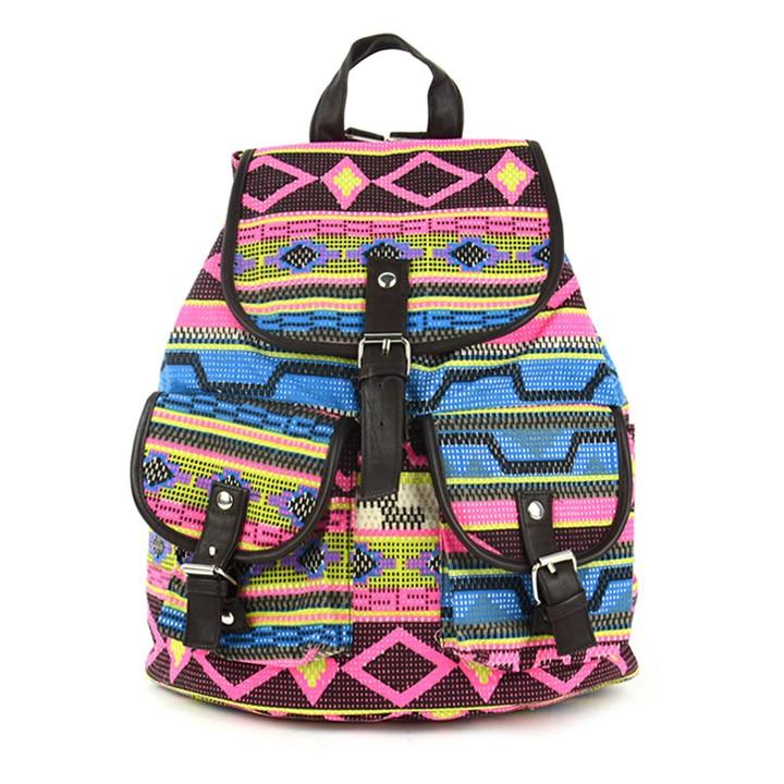 2013 New Fashion Lady Korean Stylish Vintage National Floral Ladies Canvas Bag School Bag Backpack knapsack 2 Colors 18368(China (Mainland))