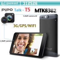 Pipo T5 Talk-T5 3G Tablet PC Android 4.2 Phone Call 6.95 inch MTK8382 Quad Core Dual Camera Dual Sim GPS Bluetooth OTG