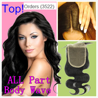 16% Of Free Shipping Lace Closure Brazilian Virgin Hair Body Wave 3.5x4 3 Part Middle Part Bleached Knots Queen Hair Top Closure