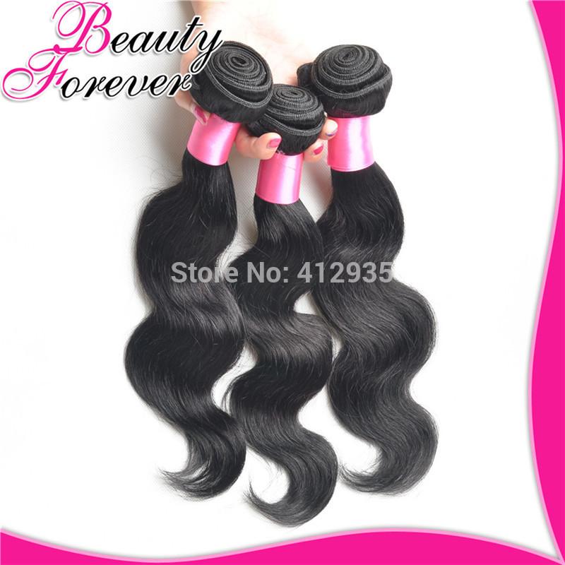 3 pcs Lot Brazilian Virgin Hair Body Wave Beauty Forever Cheap Unprocessed 6A Virgin Brazilian Human Hair Weave Wavy Bundles(China (Mainland))