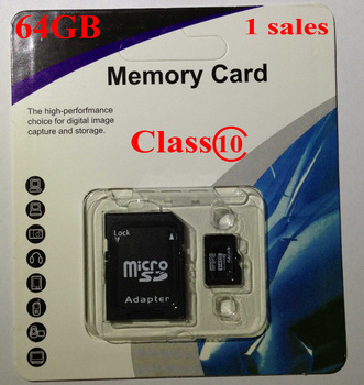 Free Shipping NEW 2G 4G 8G 16G 32GB 64G Micro SD Micro SDHC Class C 10 TF Flash Memory Card+Free Adapter