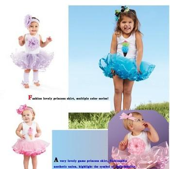 HB04 Fashion summer sleeveless baby girl dress tutu dress/lovely ball gown fashion kid's magic cube retail wholesale Honey Baby
