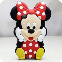 Free shipping Mickey Mouse Fashionable Cute Silicon Phone Case Appealing Phone Cover For iphone 5/5s