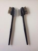 Fine Eyelash Brush Comb for Eyelash Extension Eyebow Brush Makeup  Metal Teeth -RUA