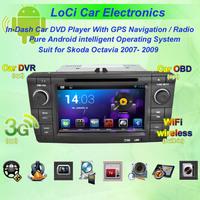 2007- 2009 Skoda Octavia Android GPS Navigation DVD Player ,Multimedia Video Player system+Free GPS map& camera